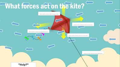 What Forces are working on a kite?
